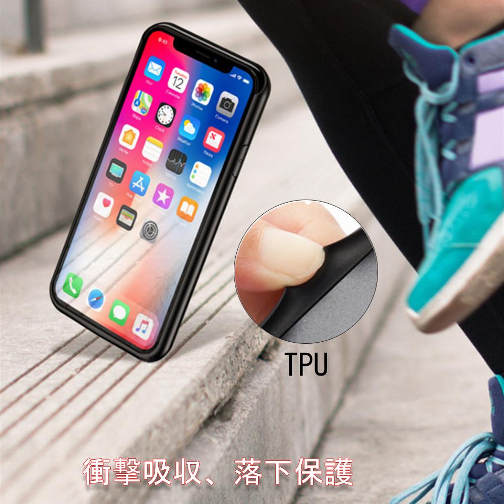 新品 iPhoneX/XS/10 対応 8500mAh バッテリーケース バッテリー内蔵ケース 軽量 大容量 充電ケース iPhonexs/x/10 対応 ケース型バッテリー 急速充電 コードレス 5.8インチ専用 battery case(ブラック)