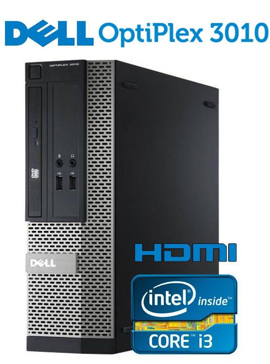 更新料0円 安心ZEROウイルスセキュリティソフト付き可能 中古パソコン デスクトップ DELL OptiPlex 3010 SFF 【第三世代 Core i3 大容量4GBメモリ 大容量 HDD500GB USB 光学ドライブ HDMIケーブル付き VGA 正規版Office付き】 中古デスクトップパソコン Windows10 中古パソコン Win10 デスクトップPC