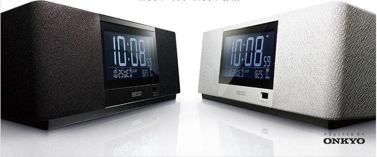 SEIKO セイコー デジタル目覚まし時計 マルチサウンドクロック SS501K(黒)/SS501A(白)Premium Time & Music