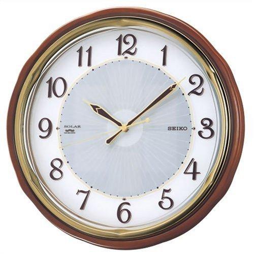 【名入れ 文字入れ無料】SEIKO CLOCK (セイコー クロック) 掛時計/掛け時計 ソーラー 電波時計 ツイン・パ SF221B