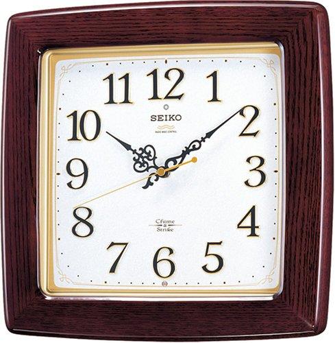 【名入れ 文字入れ無料】SEIKO CLOCK (セイコー クロック) 掛時計/掛け時計 チャイム&ストライク 電波時計 ツイン・パ RX211B