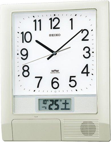 【名入れ 文字入れ無料】SEIKO CLOCK (セイコー クロック) 掛時計/掛け時計 プログラムクロック 電波時計 ツイン・パ PT201S