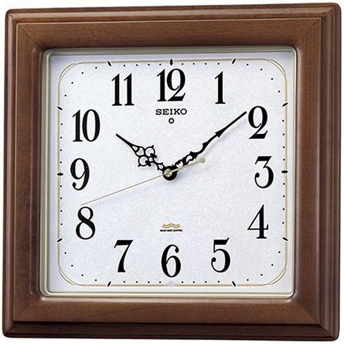 SEIKO CLOCK (セイコー クロック) 電波掛時計/掛け時計 ツイン・パ スイープ 木枠 ブラウン KS298B