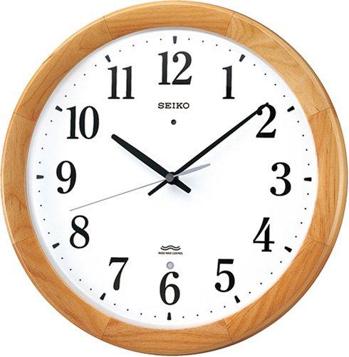 SEIKO CLOCK (セイコー クロック) 掛時計/掛け時計 電波時計 ツイン・パ 木枠 KX311B