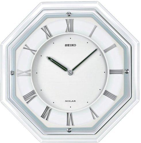 【名入れ 文字入れ無料】SEIKO CLOCK (セイコー クロック) 掛時計/掛け時計 ソーラープラス 電波時計 ガラス枠 SF503W
