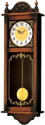 【名入れ 文字入れ無料】SEIKO CLOCK (セイコー クロック) クラシック木枠長尺振り子掛時計/掛け時計(茶) RQ307A