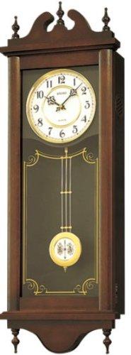 SEIKO CLOCK (セイコー クロック) クラシック木枠長尺振り子掛時計/掛け時計(茶) RQ309A