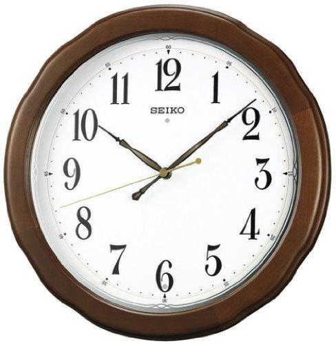 SEIKO CLOCK (セイコー クロック) 掛時計/掛け時計 電波時計 木枠 KX326B