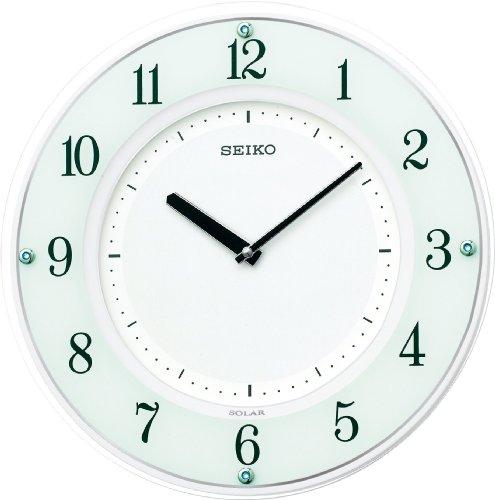 【名入れ 文字入れ無料】5月入荷予定 SEIKO CLOCK (セイコー クロック) 掛時計/掛け時計 ソーラープラス ソーラー 薄型 木枠 電波時計 SF505W