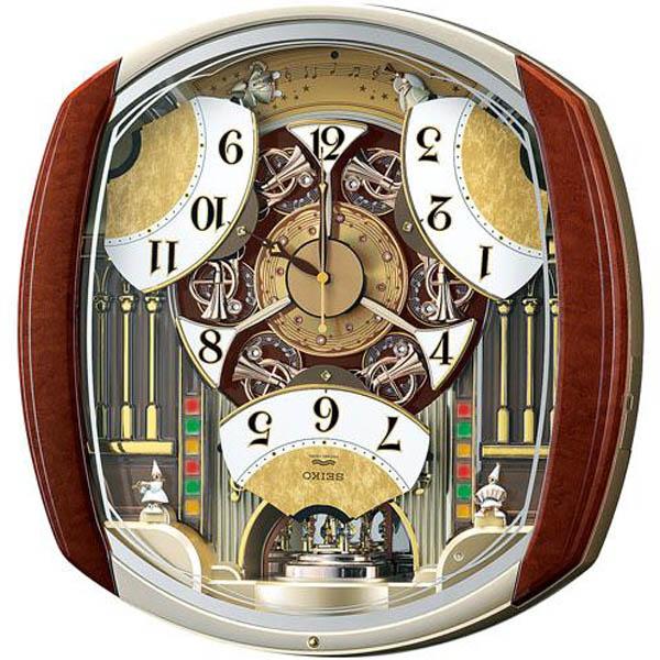 【期間限定 名入れ 文字入れ 無料】SEIKO CLOCK (セイコークロック) 掛け時計 ウエーブシンフォニー 電波時計 ツイン・パ からくり RE564H