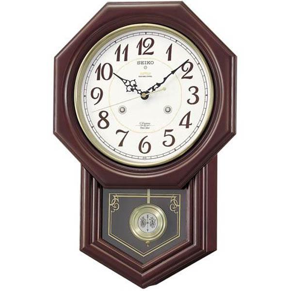 【期間限定 名入れ 文字入れ 無料】送料無料!セイコーSEIKO 掛け時計 チャイム&ストライク 電波時計 ツイン・パ RQ205B