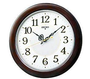 SEIKO CLOCK (セイコー クロック) 掛け時計 電波掛時計 木枠  KX376B KX376