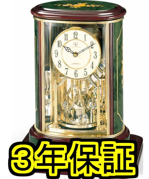 【着後レビューで 3年保障】★今だけさらに10%OFF★リズム時計 置き時計 緑象嵌仕上(アイボリー) RHG-R56 4SG702HG05 (旧クイーン エリザベス 2) QE2-R56NN 4SG702QA05【RE10】【P10】【楽ギフ_のし】【楽ギフ_名入れ】
