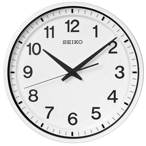 【期間限定 名入れ 文字入れ 無料】★【送料無料!】SEIKO CLOCK GP214W 衛星電波時計 掛け時計 壁掛け 電波時計 オフィス【楽ギフ_のし】【楽ギフ_名入れ】