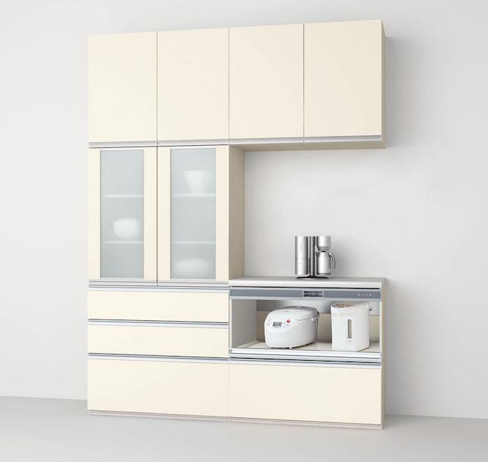 キッチン収納 リクシル シエラ 180cm スライドストッカ―+家電収納(蒸気排出ユニット付)タイプ シエラカップボードS3007