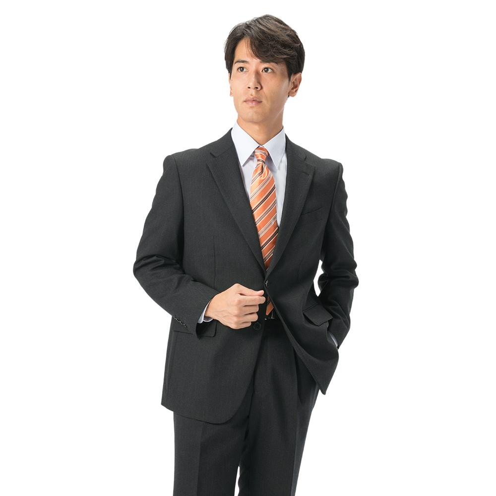 スーツ/2つボタン/ブラック/ヘリンボン/ゆったり/KANSAIYAMAMOTO/ワンタック/ブランドスーツ/ストレッチ/