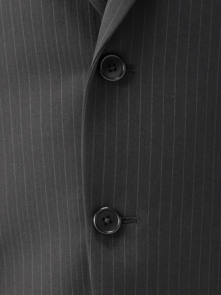 スーツ/2つボタン/2ピース/ブラック/ストライプ/ゆったり/KANSAIYAMAMOTO/ワンタック/ブランドスーツ/【スモールサイズ有】【トールサイズ有】
