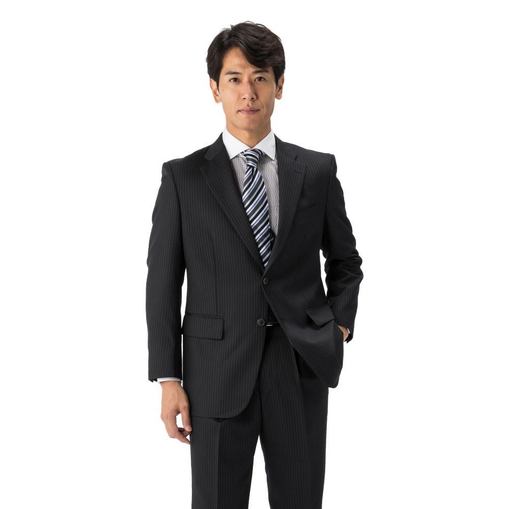 【2着39,800円対象】スーツ/2つボタン/2ピース/グレー/ストライプ/ゆったり/KANSAIYAMAMOTO/ワンタック/ツーパンツ/ブランドスーツ//【スモールサイズ有】【トールサイズ有】