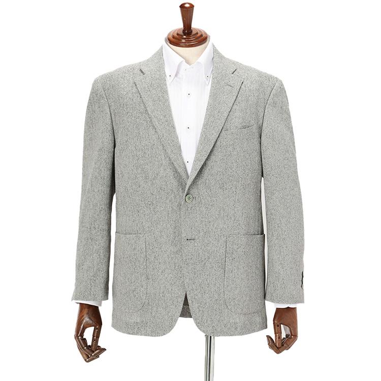 【春夏】軽量ジャケット 織柄 グレー KANSAI YAMAMOTO カンサイヤマモト サマージャケット 涼しい はるやま ジャケット クールビズ 在宅ワークにもおすすめ 防しわ素材