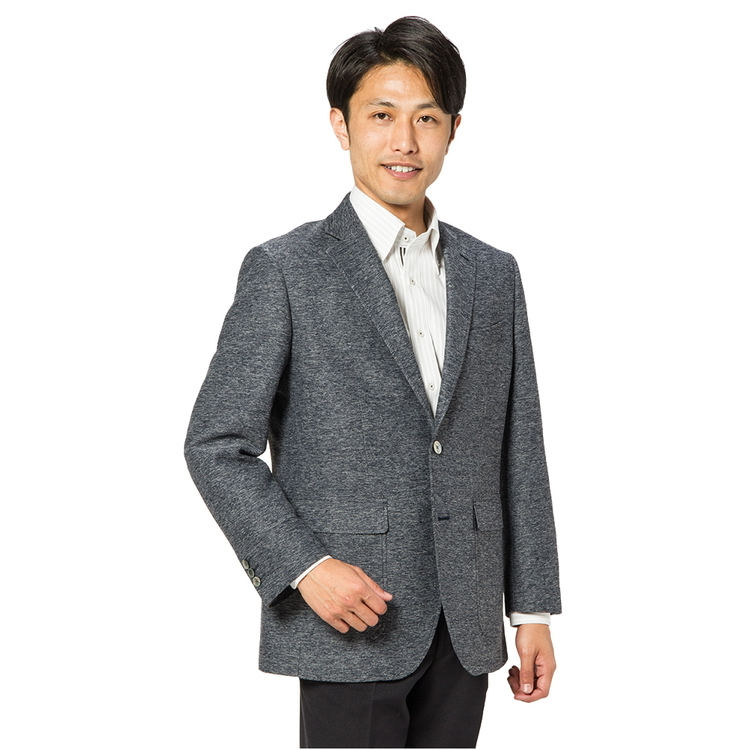 KANSAIYAMAMOTO2つボタンジャケット/無地/ブルー