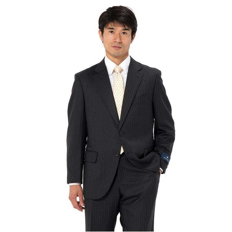 スーツ メンズ 背広 メンズスーツ 2つボタン 2ピース ノータック ブランド 高級生地 ヘリンボン グレー 秋冬 ウール スタンダード MARIO VALENTINO マリオバレンチノ メンズファッション スーツのはるやま