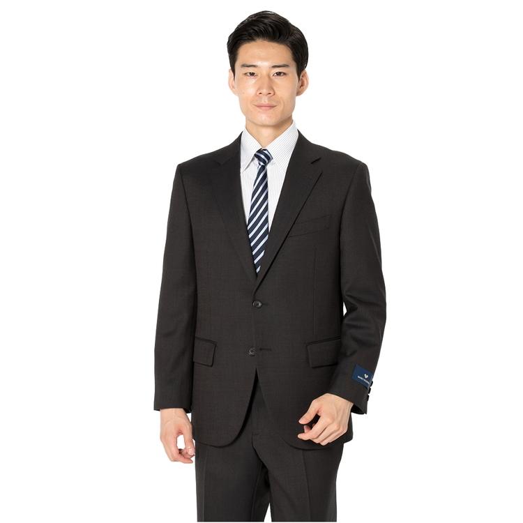 スーツ メンズ 背広 メンズスーツ 2つボタン 2ピース ノータック ブランド 高級生地 無地 ブラウン 秋冬 ウール スタンダード MARIO VALENTINO マリオバレンチノ メンズファッション スーツのはるやま