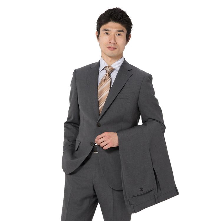 スーツ メンズ 背広 メンズスーツ 2つボタン 2ピース ツーパンツ ノータック ブランド 高級生地 ストライプ グレー 春夏 ウール スタンダード MARIO VALENTINO マリオバレンチノ メンズファッション スーツのはるやま