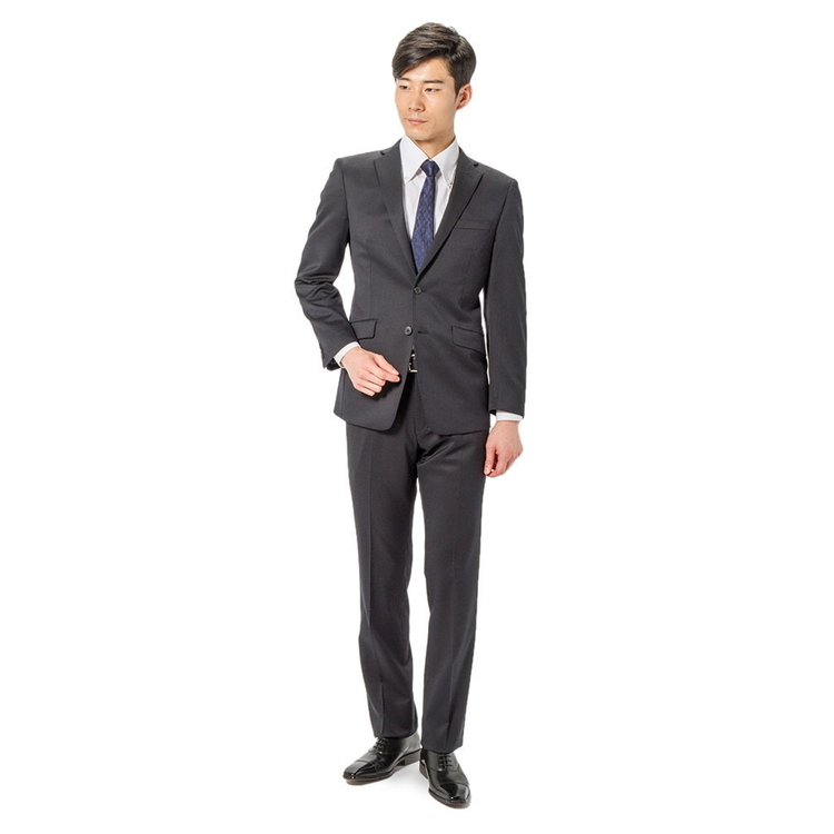 スーツ メンズ 背広 メンズスーツ 2つボタン 2ピース パンツウォッシャブル ノータック 無地 ネービー 通年 ウール混 スリム 就活 RESPECTNERO リクルートスーツ メンズファッション スーツのはるやま