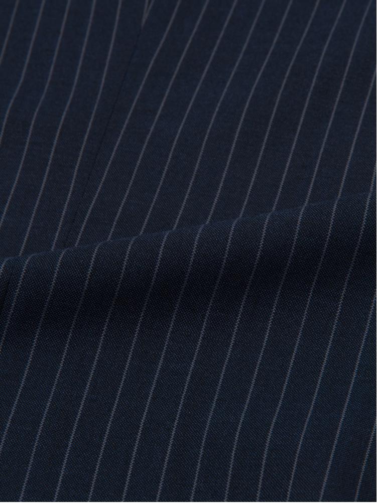 スーツ メンズ 背広 メンズスーツ 2つボタン 2ピース ツーパンツ パンツウォッシャブル ノータック 防シワ ブランド ストライプ ブルー 春夏 ウール混 スリム PinkyWolman ピンキーウォルマン メンズファッション スーツのはるやま