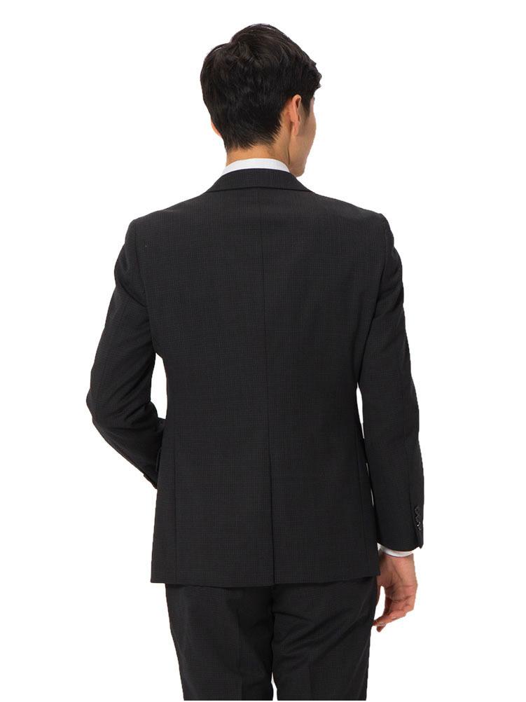 スーツ メンズ 背広 メンズスーツ 2つボタン 2ピース パンツウォッシャブル ノータック マイクロチェック グレー 秋冬 ウール混 スタンダード 健康 phiten ファイテン メンズファッション スーツのはるやま