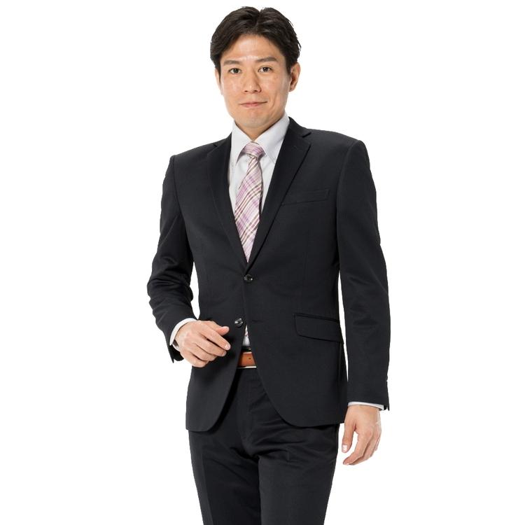スーツ メンズ 背広 メンズスーツ 2つボタン 2ピース 上下ウォッシャブル ノータック ストレッチ ニット素材 ジオメトリック ネービー 秋冬 ポリエステル スリム アンクルパンツ RESPECTNERO ニットスーツ メンズファッション スーツのはるやま