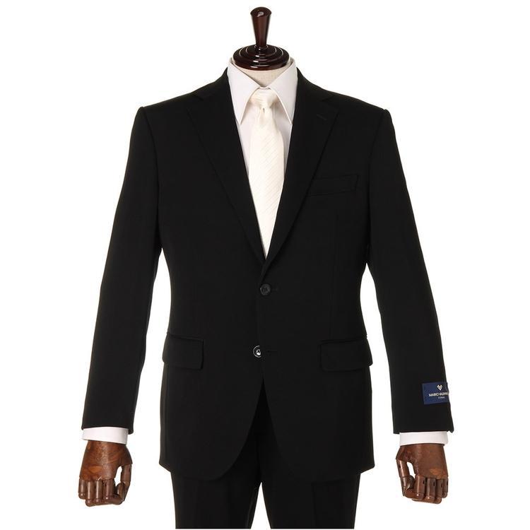 礼服 メンズフォーマルMARIOVALENTINO2つ釦シングルフォーマルスーツ/無地/ブラック