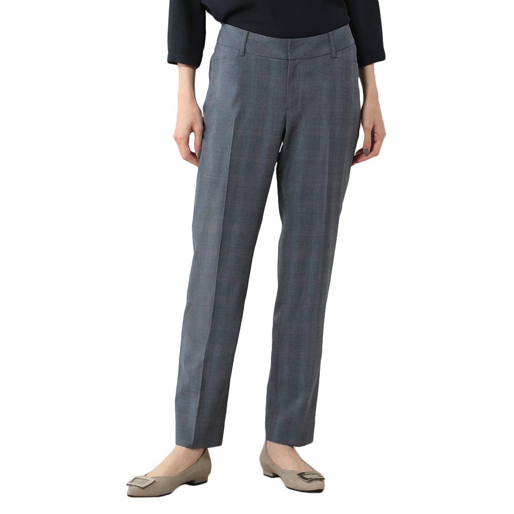 Knightsbridge パンツ ストレッチ ブルー スーツのはるやま ビジネス レディース ウォッシャブル S&M フルレングス