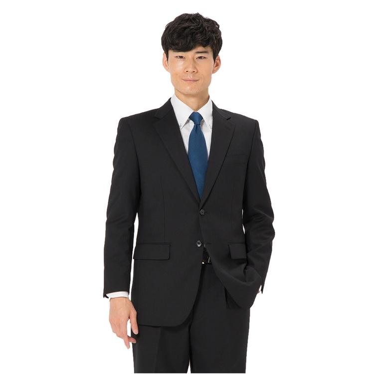 スーツ メンズ 背広 メンズスーツ 2つボタン 2ピース パンツウォッシャブル ワンタック 消臭 ストライプ ブラック 秋冬 ウール ゆったり REGENTHOUSE ガイアクリーンスーツ メンズファッション スーツのはるやま