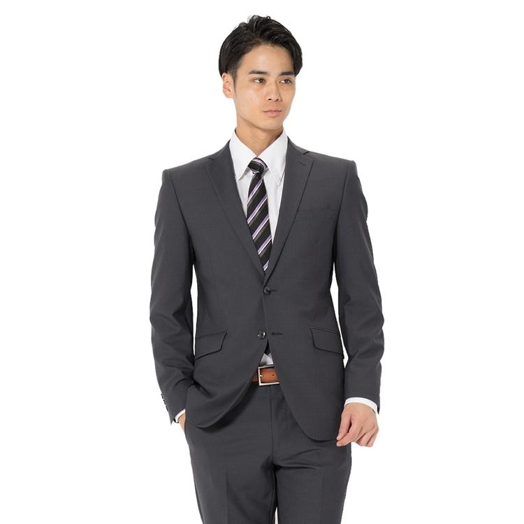 スーツ メンズ 背広 メンズスーツ 2つボタン 2ピース パンツウォッシャブル ノータック ストライプ グレー 春夏 ウール スリム アンクルパンツ RESPECTNERO リスペクトネロ メンズファッション スーツのはるやま