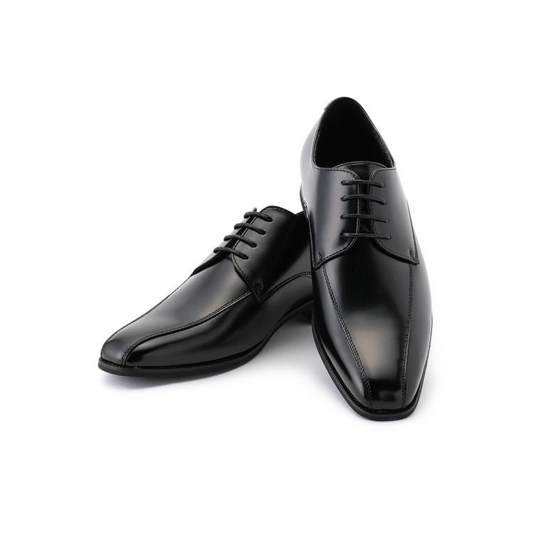 ビジネスシューズ 革靴IBS リクルートシューズPUコンビ流れモカ
