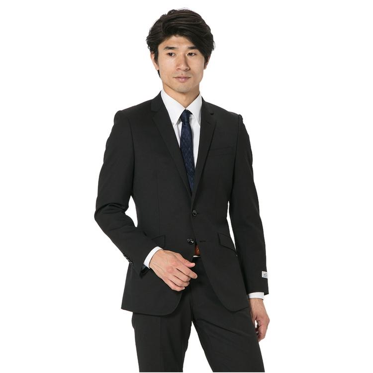 スーツ メンズ 背広 メンズスーツ 2つボタン 2ピース ノータック ストレッチ ジオメトリック ブラウン 秋冬 ウール スリム スーパースリム RESPECTNERO リスペクトネロ メンズファッション スーツのはるやま