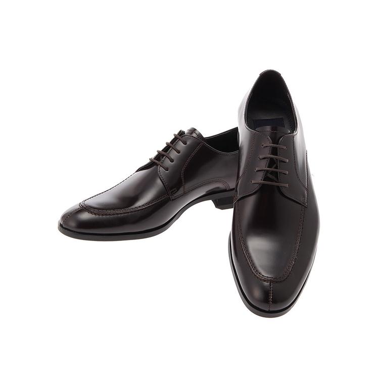 ビジネスシューズ 革靴MARIOVALENTINOビジネスシューズ/Uチップ/D.ブラウン