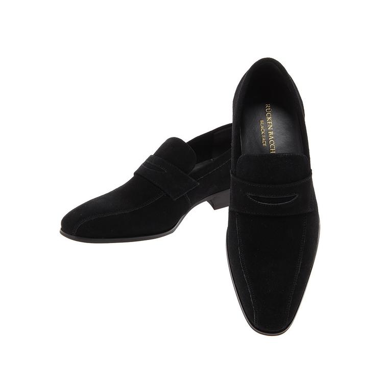 ビジネスシューズ 革靴RuckenBaccharBlackfaceスウェードシューズ/ローファー/ブラック