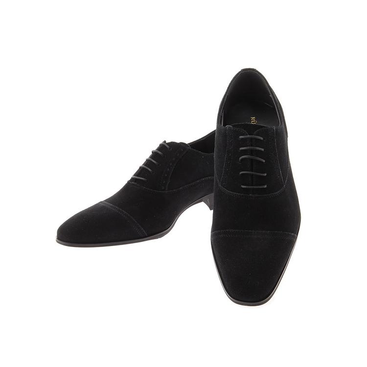 ビジネスシューズ 革靴RuckenBaccharBlackfaceスウェードシューズ/ストレートチップ/ブラック