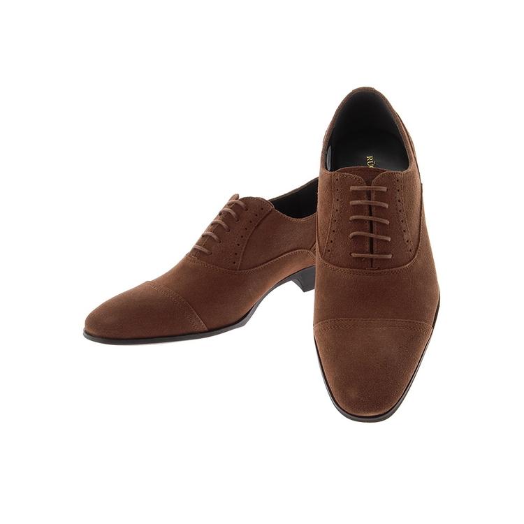 ビジネスシューズ 革靴RuckenBaccharBlackfaceスウェードシューズ/ストレートチップ/ブラウン
