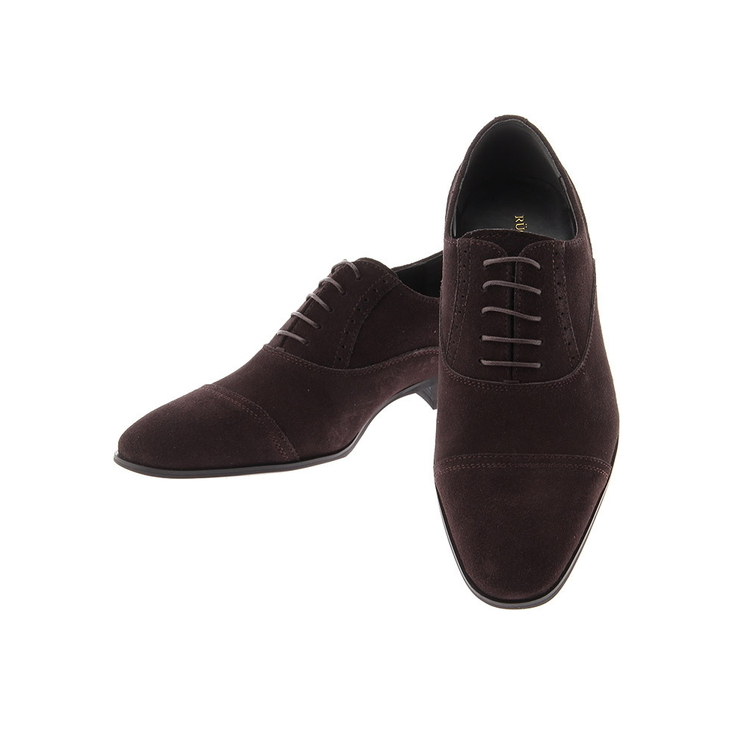 ビジネスシューズ 革靴RuckenBaccharBlackfaceスウェードシューズ/D.ブラウン