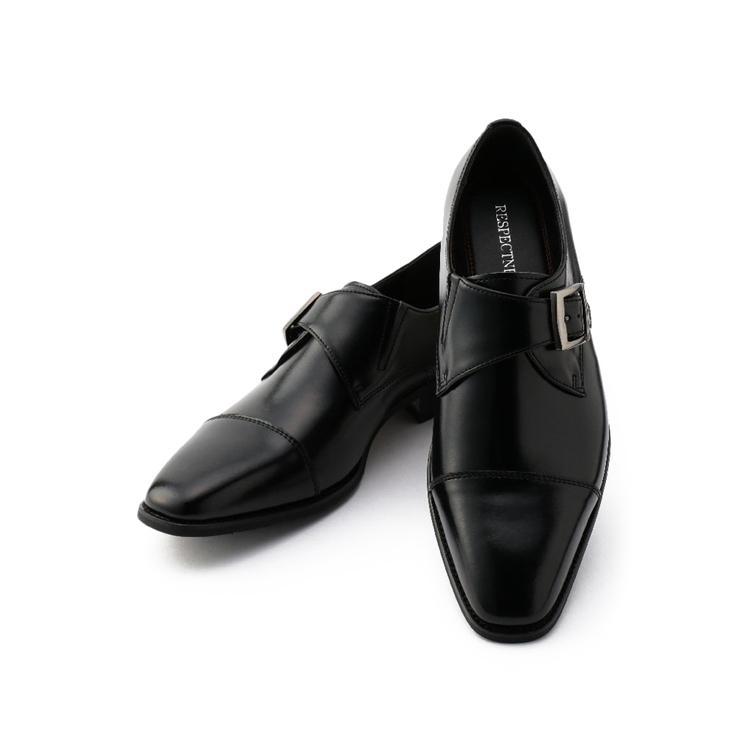 ビジネスシューズ 革靴革靴 ネロ モンク ストレートトゥ
