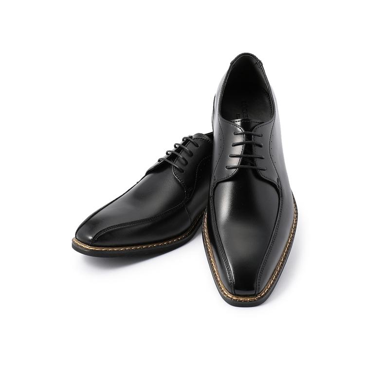 ビジネスシューズ 革靴ブラックフェイス 外羽根ヒモ コバ