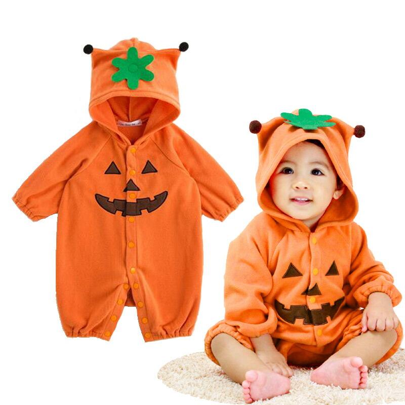 5c25856793acd7 かぼちゃカバーオール ハロウィン ベビー服 ベビー キッズ 子供服 あす楽 ハロウィン着ぐるみ ハロウィン赤ちゃん 新生児 出産