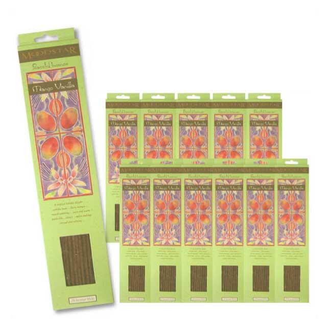 MOODSTAR INCENSE STICK MANGO VANILLA 12PCS (TOTAL240本) / ムードスター インセンス スティック マンゴーバニラ / Room Fragrance
