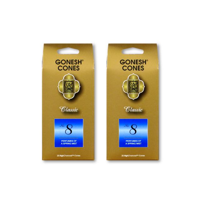 ネコポス送料無料 GONESH INCENSE CONE NO.8 タイムセール [正規販売店] 2PCS ガーネッシュ お香 Room インセンス Fragrance コーン 2個セット
