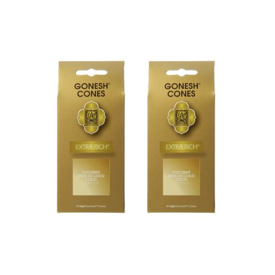 ネコポス送料無料 GONESH INCENSE 倉庫 CONE COCONUT 2PCS ガーネッシュ 本店 Fragrance コーン お香 インセンス 2個セット Room ココナッツ