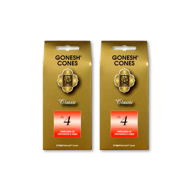 SALE開催中 ネコポス送料無料 GONESH INCENSE CONE NO.4 2PCS ガーネッシュ インセンス 数量限定 2個セット Fragrance お香 Room コーン