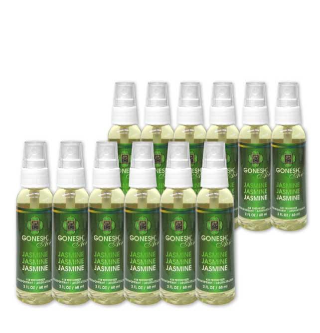 GONESH SPRAY JASMINE 12PCS / ガーネッシュ スプレー ジャスミン 12個セット / AIR FRESHENER 芳香剤